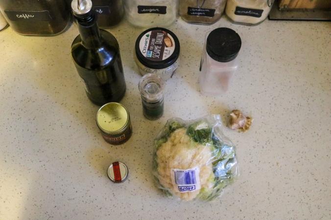 Broiled Cauliflower Ingredients
