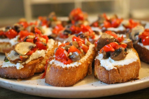 Bruschetta roasted red pepper 2
